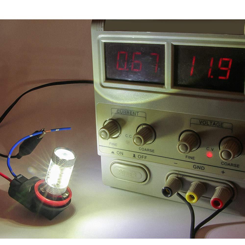 SENZEAL 2x Adaptateur de douille de lumi/ère de voiture de SMD de support de douille de lampoule H11 H8 H9 880 881 H27