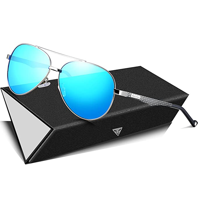 0595bf4cda5 SIPLION Men s Aviator Sunglasses For Men Women Polarized Lens Al Mg Metal  Frame 3850 Blue