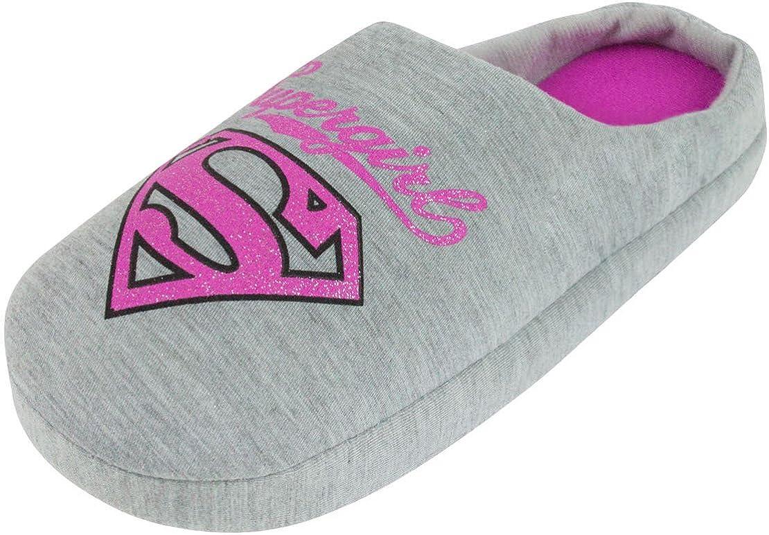 DC Comics Supergirl Glitter Womens Slippers
