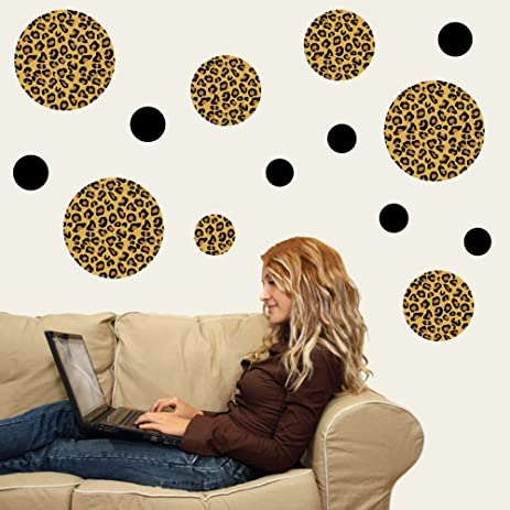 Superbe Leopard Print Dots Large Repositionable Peel And Stick Wall Decals