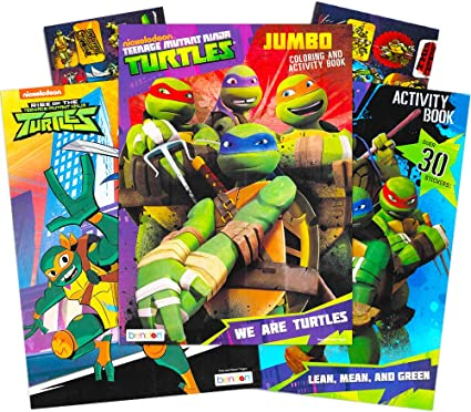 - Amazon.com: Teenage Mutant Ninja Turtles Coloring And Activity Book Set  With Stickers (3 TMNT Coloring Books, Over 30 Stickers): Toys & Games