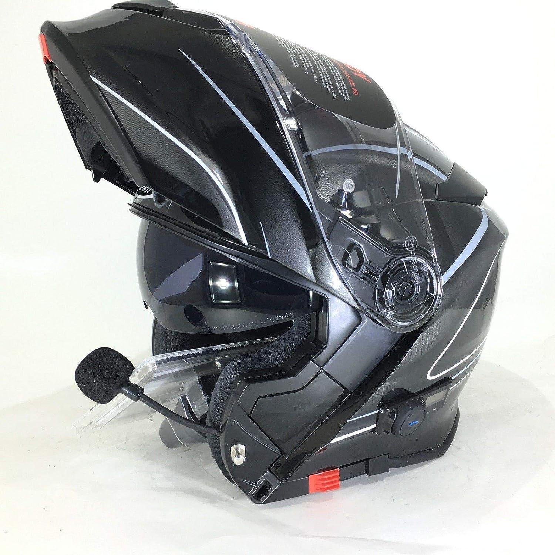 VCAN V271 LIGHTNING MODULAR MOTORCYCLE MOTORBIKE BLUETOOTH FLIP UP HELMET L