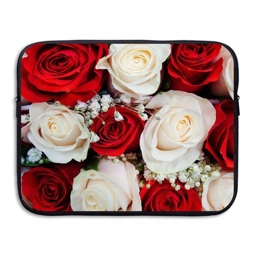 Fonsisi Roses Wedding Flowers Art Laptop Storage Bag - Portable Waterproof Laptop Case Briefcase Sleeve Bags Cover