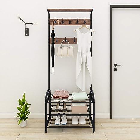 Amazon.com: JURMERRY - Perchero para ropa, color negro y ...