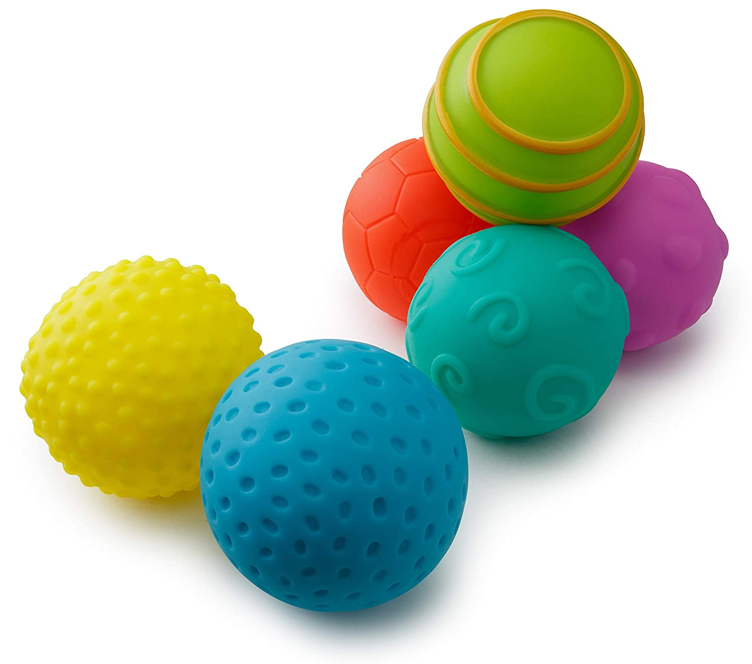 Playkidz: Super Durable 6 Pack Sensory Balls, Soft & Textured Balls for Babies & Toddlers