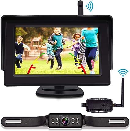 """4.3/""""TFT LCD Sreen Monitor Car HD Rear View Camera Night Vision License Plate"""