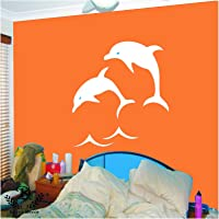 Kayra Decor Dolphins Reusable DIY Wall Stencil Painting for Home Decor (Plastic Sheet, 16inch X 24 Inch), Clear