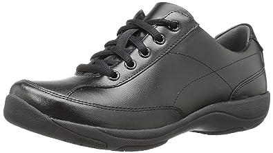 Dansko Women's Emma Flat, Black Leather, ...