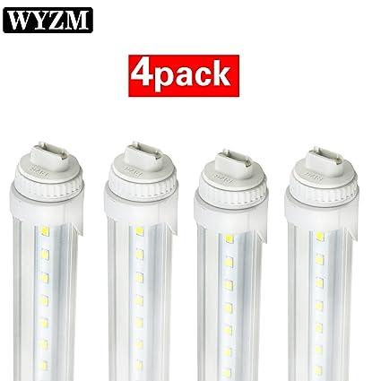 4-Pack of 40W R17D T12 8ft LED Tube, 8\' F96T12/CW/HO LED Fluorescent ...