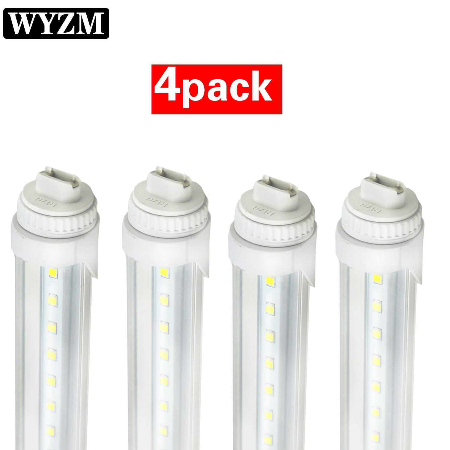 WYZM R17D 4FT 20W F48T12/CW/HO Straight T12 Fluorescent LED Tube Light Bulb for Vending Cooler Freezer Replacement Bulb (4-Pack 5500k)