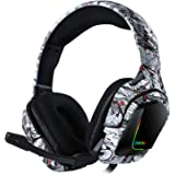 ONIKUMA K20 3.5mm Wired Gaming Headset Surround Sound Headphones Over Ear E-Sport Earphone with Mic Volume Control Mute…