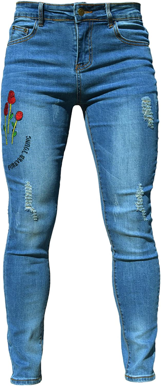 in tessuto elasticizzato Pantaloncini estivi da donna in denim PHOENISING