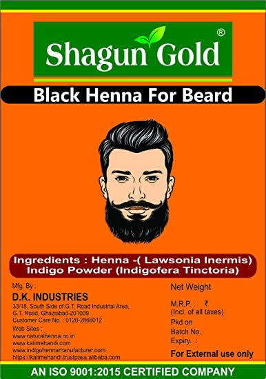 Buy Shagun Gold Beard Black Color Cover Your Gray Mustache For Men