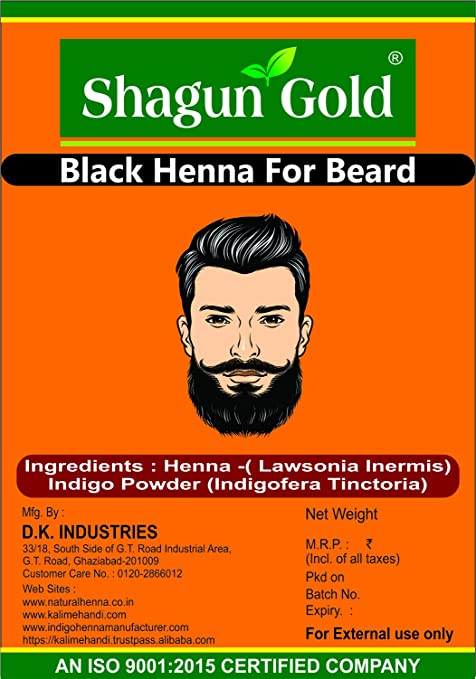 6b94ee1ec Buy SHAGUN GOLD Henna Natural & Chemical-Free Black Hair, Beard & Mustache  Colour, 200g Online at Low Prices in India - Amazon.in