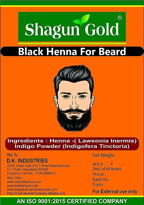 Buy Shagun Gold Henna Natural Chemical Free Black Hair Beard