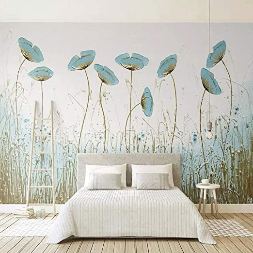 Papel pintado 3D moderno simple flores pinturas pared sala sala ...