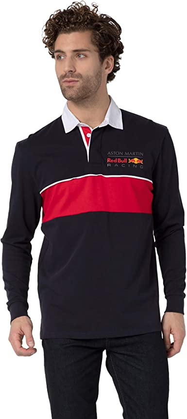 Red Bull Racing Redline Long Sleeve Camisa Polo, Hombres - Official Merchandise