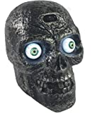 Motion Sound Activated Skull with Glowing Eyes and Creepy Sounds - Halloween Prop Decoration