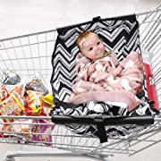 Baby Shopping Cart Hammock, Cart Cover for Newborn,Toddler and Twins (White)