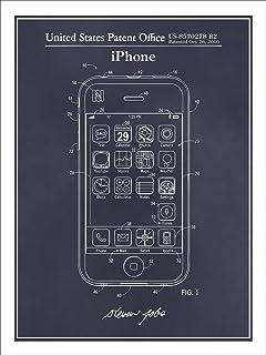 Steve Jobs Apple iPhone Patent Print Art Poster UNFRAMED Blackboard 18