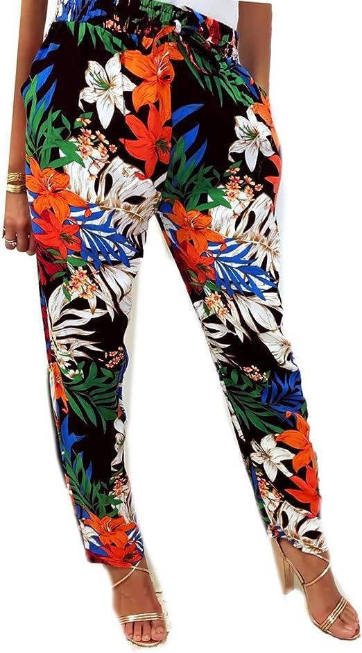 pantalon femme fleuri