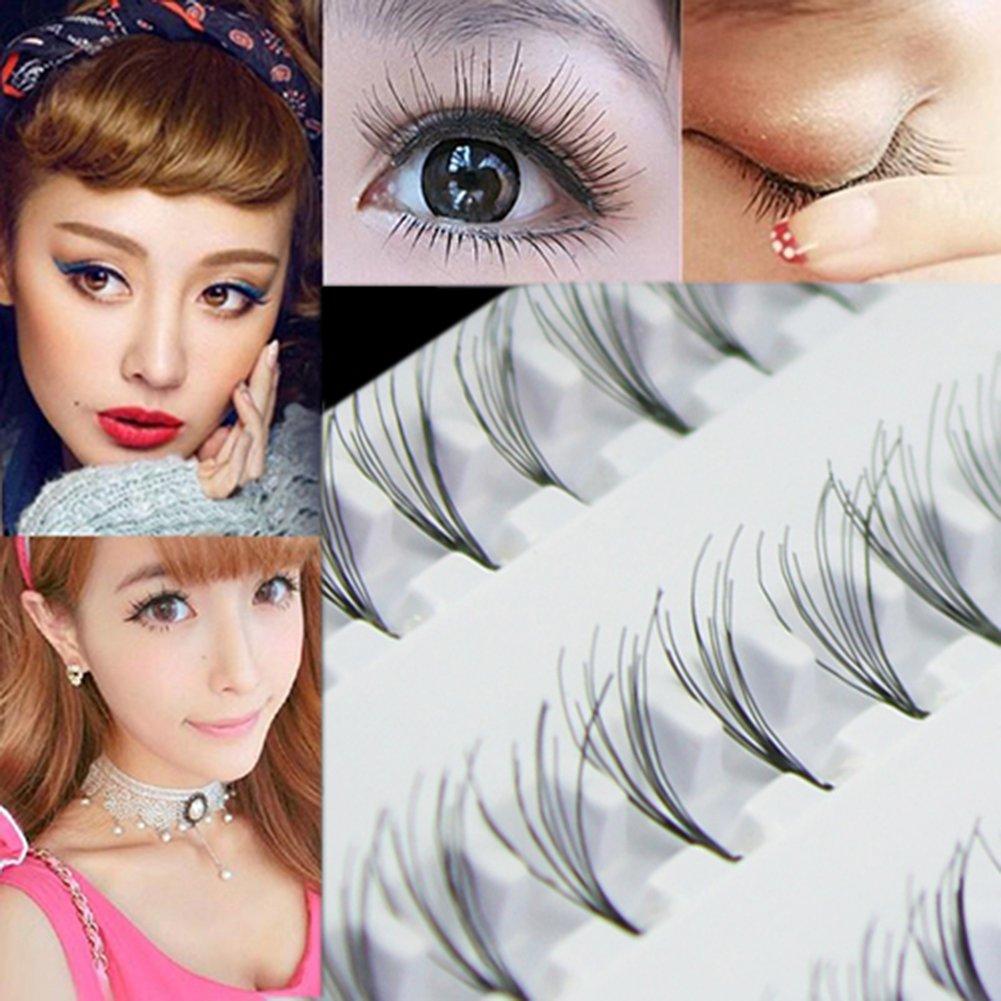 60pcs 8mm10mm12mm Black False Eyelashes Cluster Individual Eye Lashes Extensions Tray Makeup Tools 8mm
