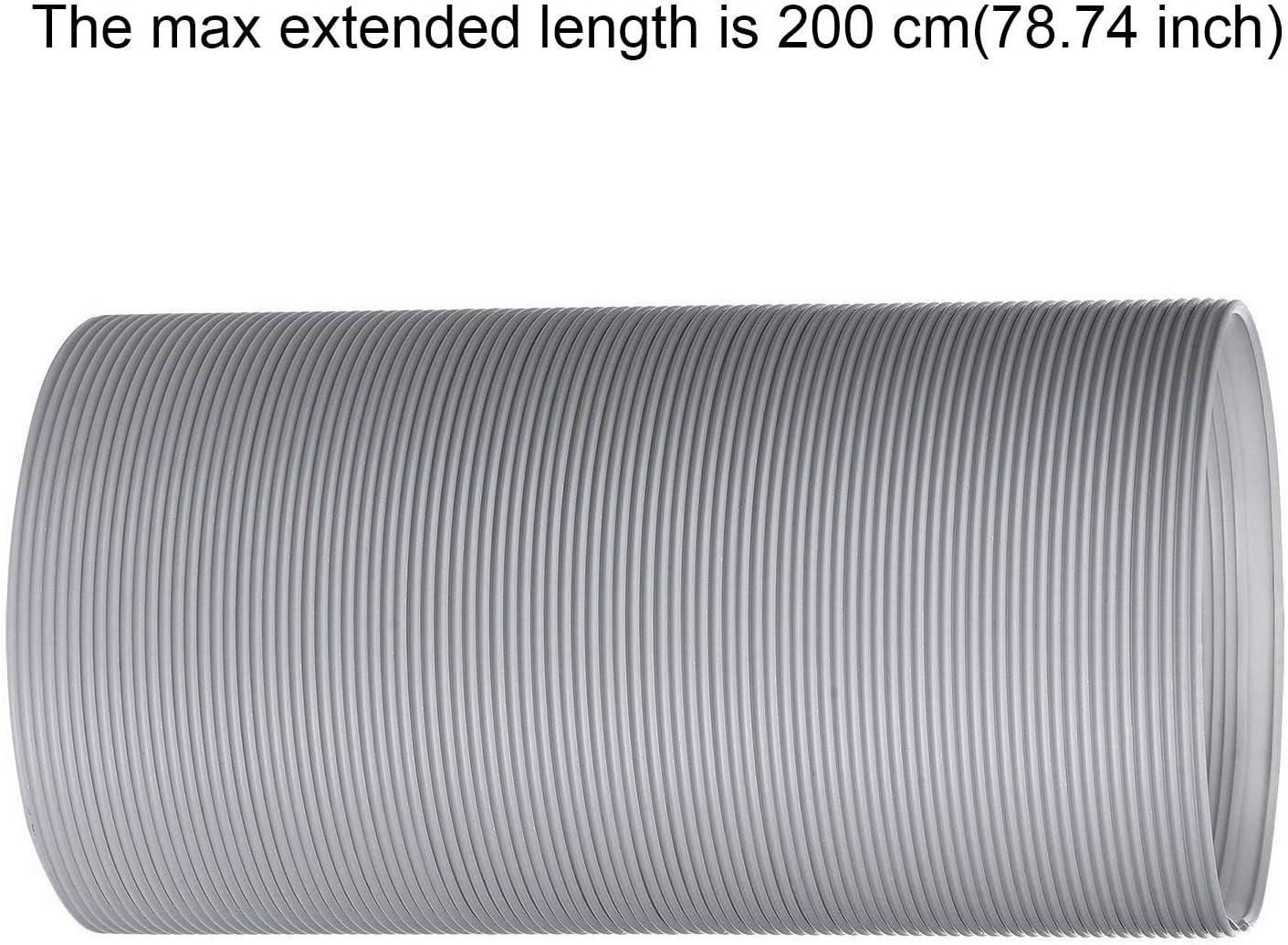 FGHB Tubo Di Scarico Portatile Con Condizionatore 13cm 15cm Diametro Sfiato Di Scarico Portatile Con Raccordo Antiorario In Bianco