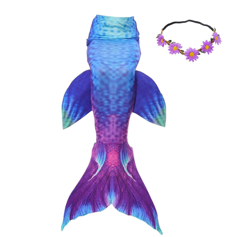 Amazon.com: 2 x Deals cola de sirena para nadar niños niñas ...