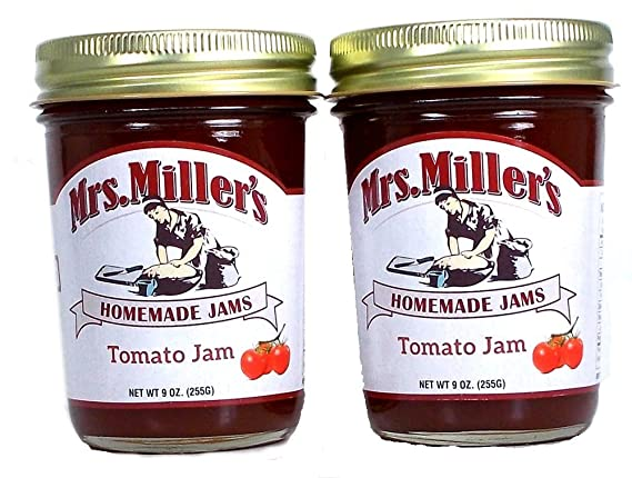 Mrs Millers Tomato Jam (Amish Made) ~ 2 / 9 oz Tarro: Amazon ...