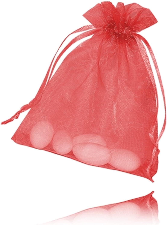 8 * 11cm BUONDAC 100pcs Sachets Drag/ées Organza Petit Sac Bonbons Chocolats Perle Pochettes Cadeau Faveur Invit/és pour Anniversaire Bapt/ême F/ête D/écoration Mariage Multicolore Motif