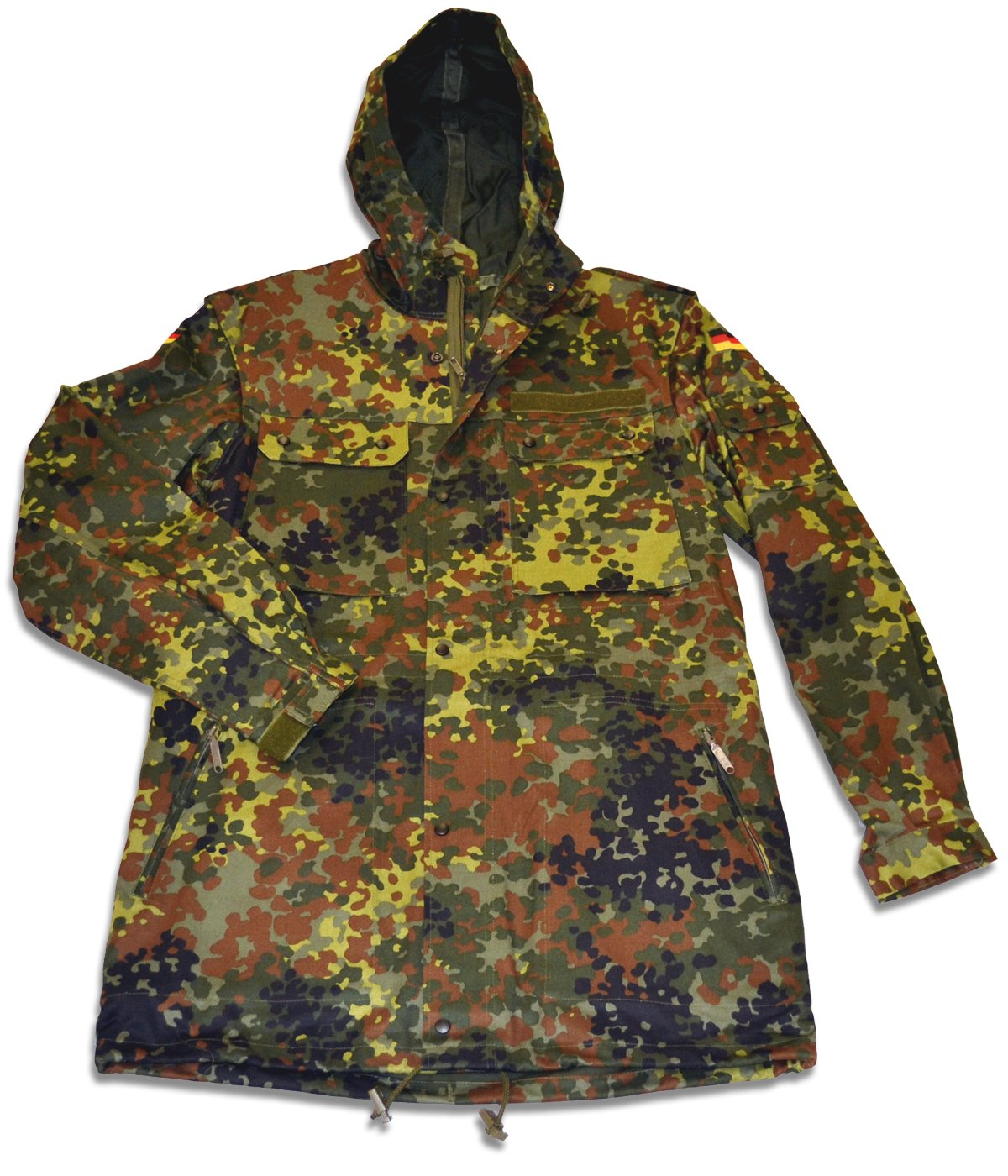Amazon.com: New German Flecktarn Camouflage Parka - Medium: Sports ...