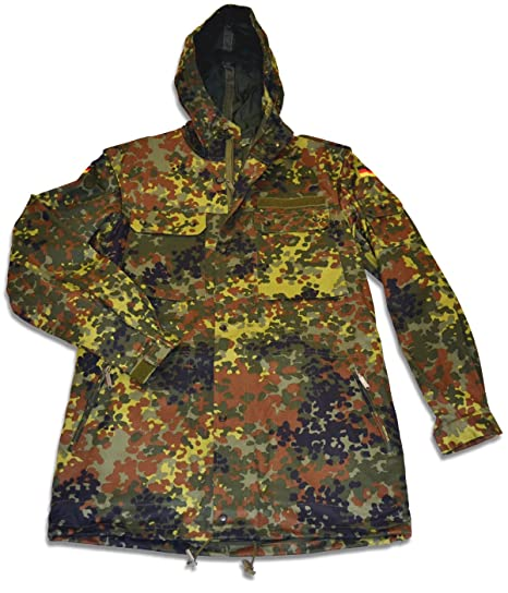 0a272a2b9d3e1 Amazon.com: New German Flecktarn Camouflage Parka - Medium: Clothing