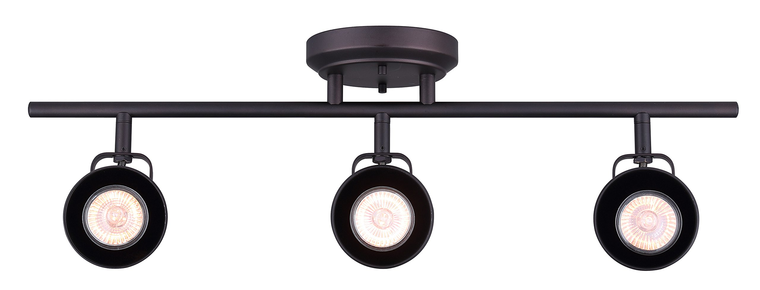 CANARM IT622A03ORB10 Ltd Polo 3 Light Track Rail Adjustable Heads, Oil Rubbed Bronze by Canarm