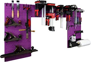 product image for Wall Control Woodworking Tool Storage Organization Kit - Lazy Guy DIY Edition Wood Working Tool Supply Organizer for Do-It-Yourself Woodworkers and Makers (Purple Pegboard)
