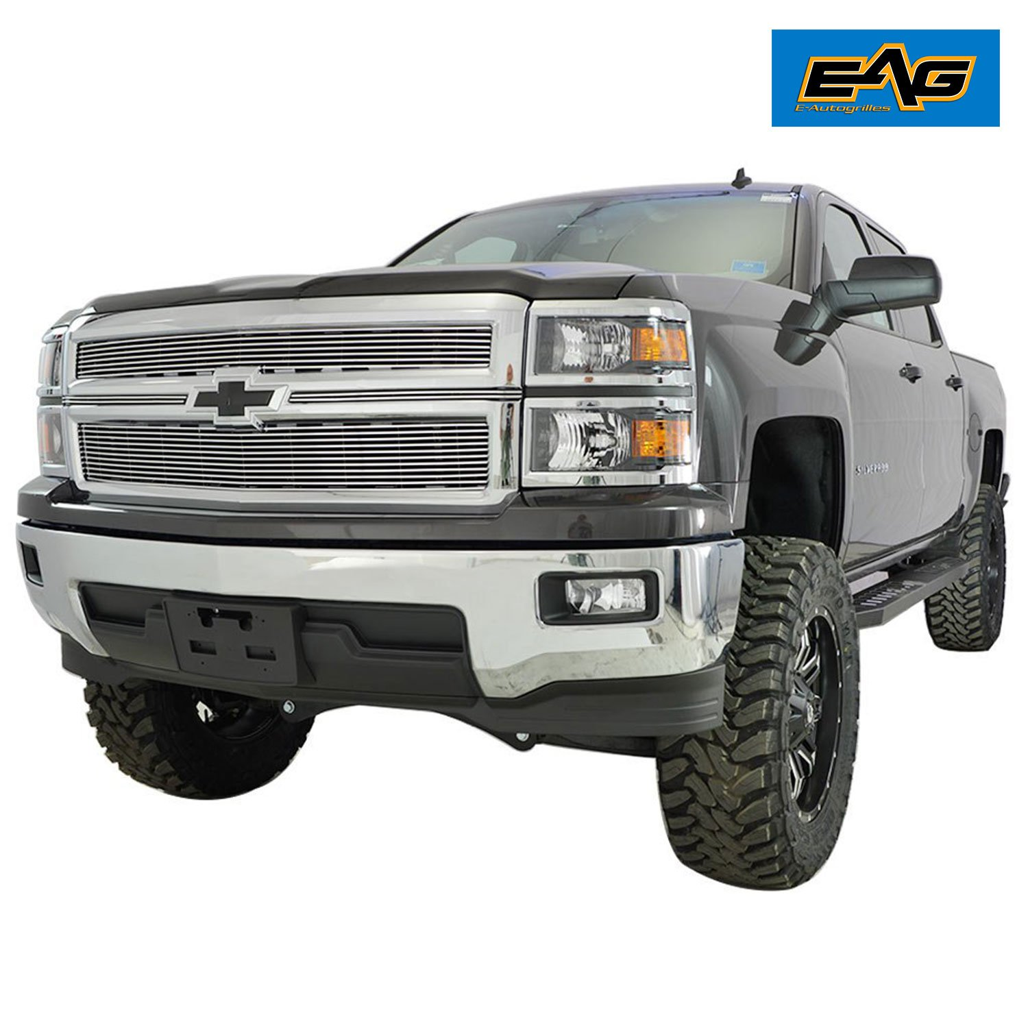 Eag Billet Front Grille Insert For 14 15 Chevrolet 1964 Chevy Truck Silverado 1500 Non Z 71 Automotive