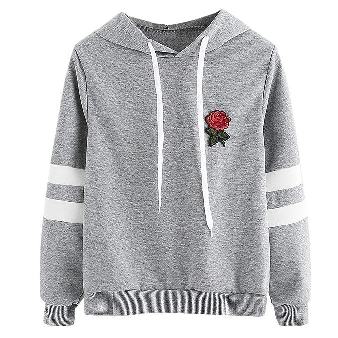 81b959dff887 Abbigliamento Donna ASHOP Maglie Manica Lunga Felpa Pullover Autunno Inverno  2018 Donna Rosso Nero Grigio S-XL  Amazon.it  Abbigliamento