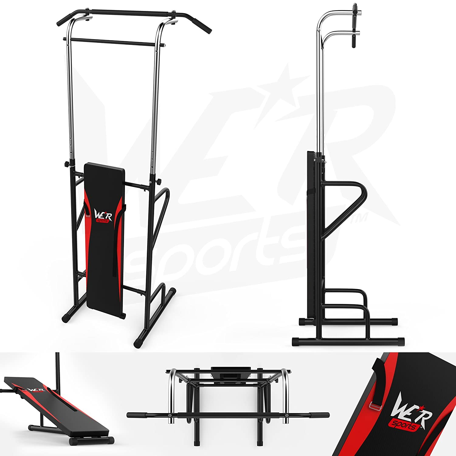 We R Sports Station Sit Up Bench & Pull Up Bar