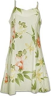 product image for Paradise Found Womens Hibiscus Summer Princess Seam Mini Sundress in Cream - XS