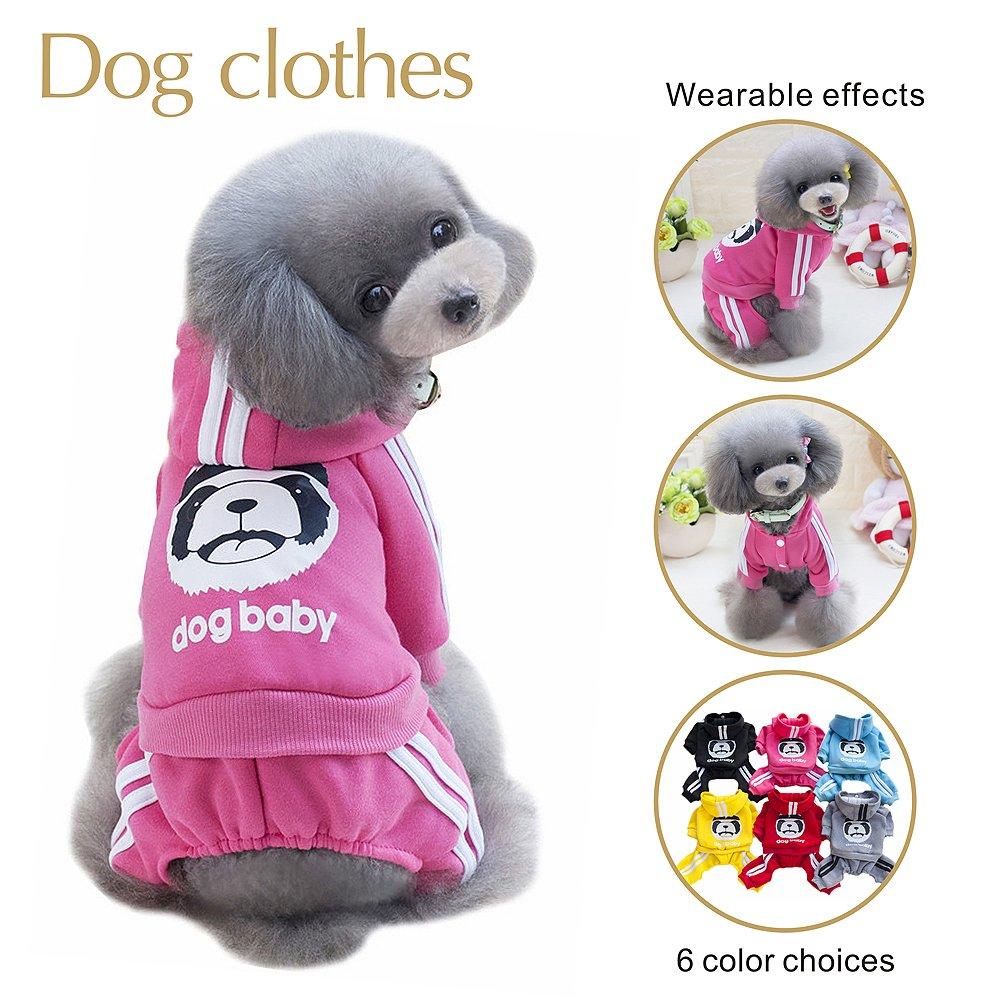 Sudadera con capucha para perro, ropa para mascotas, camiseta cálida para perro o gato, chaleco de primavera, forro polar para invierno, sudadera cálida ...