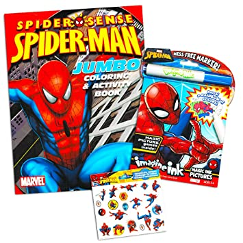 marvel spiderman imagine ink coloring book set 1 mess free book 1 - Imagine Ink Coloring Book