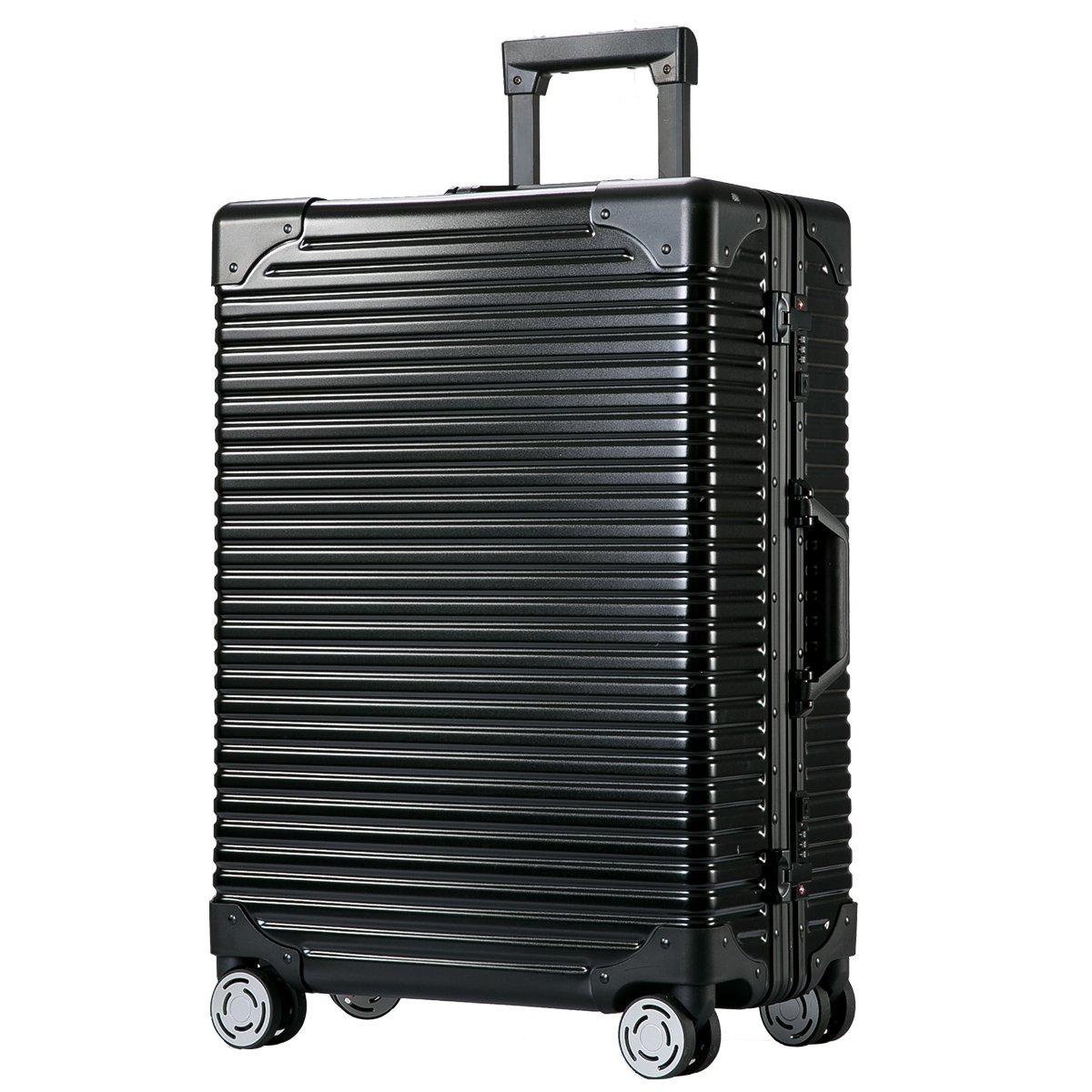 [トラベルハウス]Travelhouse スーツケース キャリーバッグ アルミフレーム B074XGRVL4 M|ブラック ブラック M
