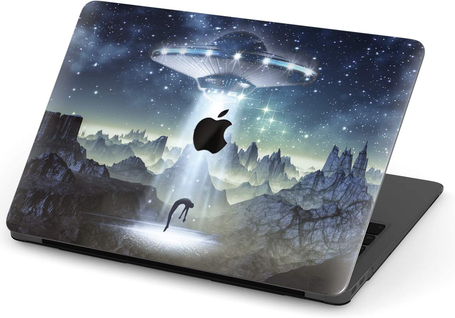 MacBook Pro Retina Case Spaceship Architecture Plastic Hard Shell Compatible Mac MacBook Air Accessories Protection Accessories for MacBook with Mouse Pad