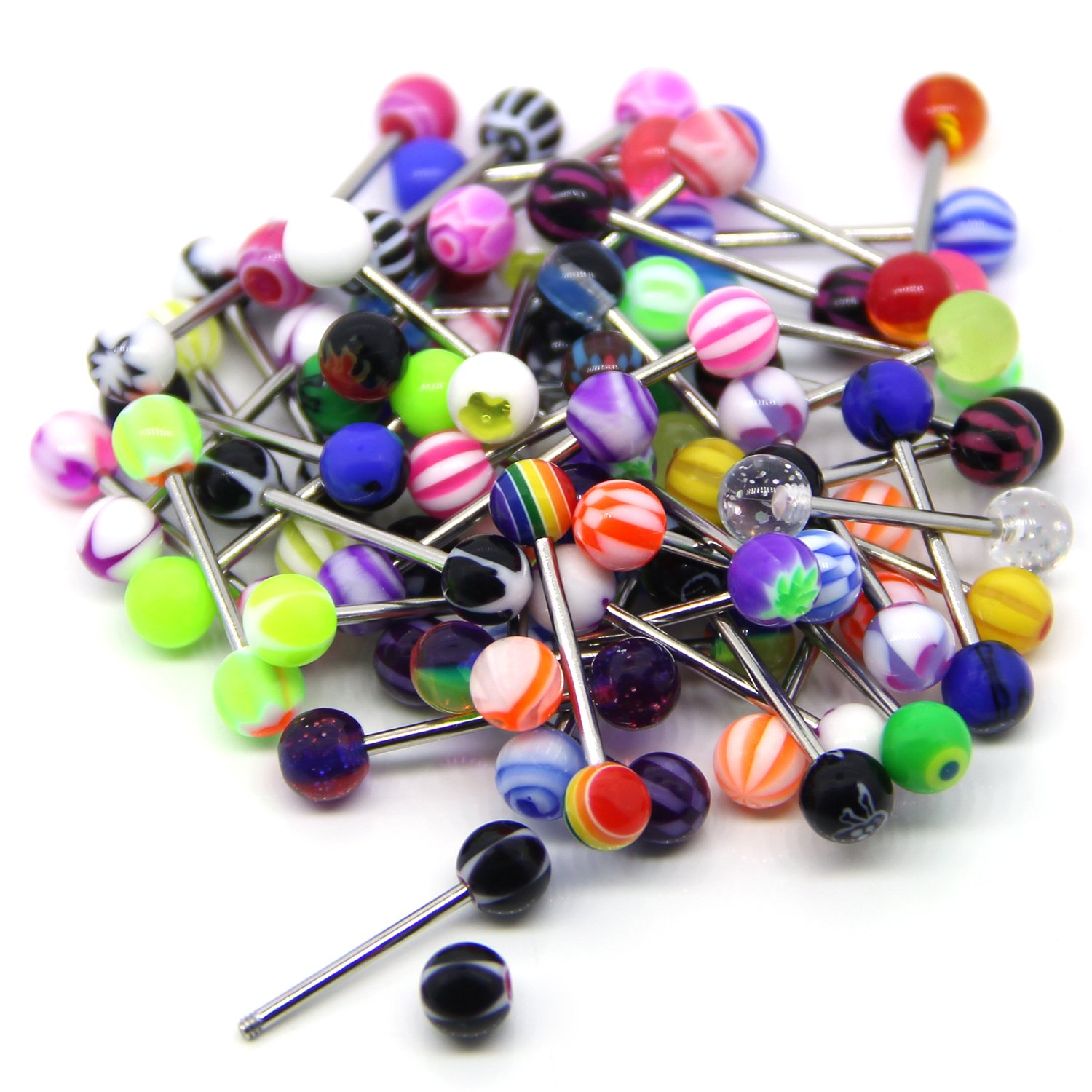 Coolrunner 100 Mix Pack 50pc 14g Belly Button Rings And 50pc 14g