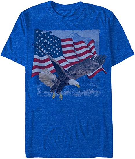 Bald Eagle American Flag USA Soaring Freedom 4th FREE SHIPPING New Mens T-shirt