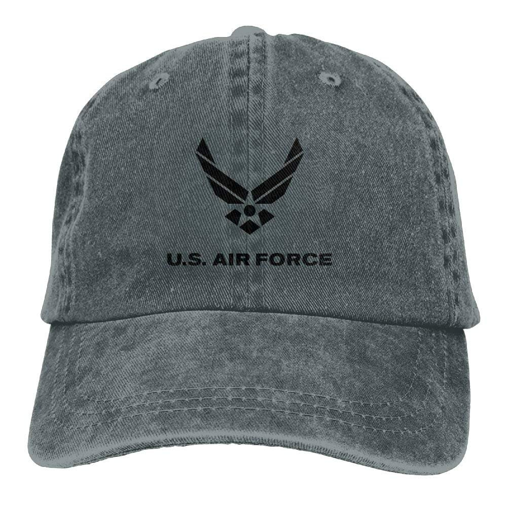 Yuan Kun Us Air Force Vintage Washed Dyed Cotton Adjustable Denim Cowboy Cap