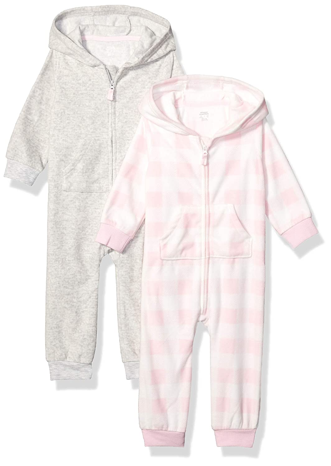 Essentials 2-Pack Microfleece Hooded Coverall Unisex-Bambini