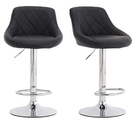 Marvelous Millhouse Modern Bar Stools Set Leatherette Exterior Adjustable Swivel Gas Lift Chrome Footrest And Base For Breakfast Bar Counter Kitchen And Customarchery Wood Chair Design Ideas Customarcherynet