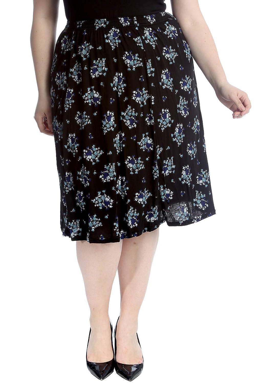 Neue Frauen Übergröße Rock Damen Krawatten Druck Lang Abstrakt Elastisch Sale Röcke