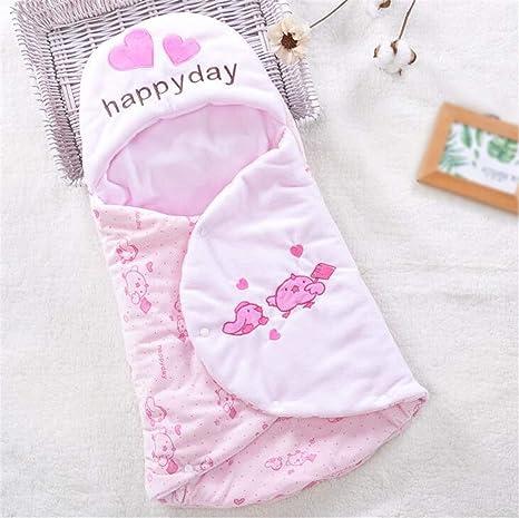 NUO-Z Saco de Dormir de Franela cálida para bebés recién Nacidos Envoltura de Mantas