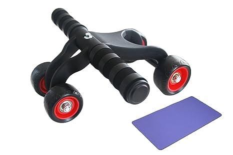 artsu 4 ruedas Core Fitness AB Roller muscular entrenador máquina con espuma rodilleras alfombrilla para profesionales